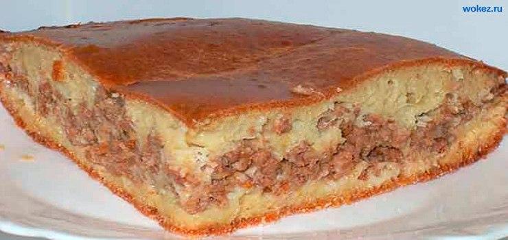 Пирог с мясом и пирог с бананом