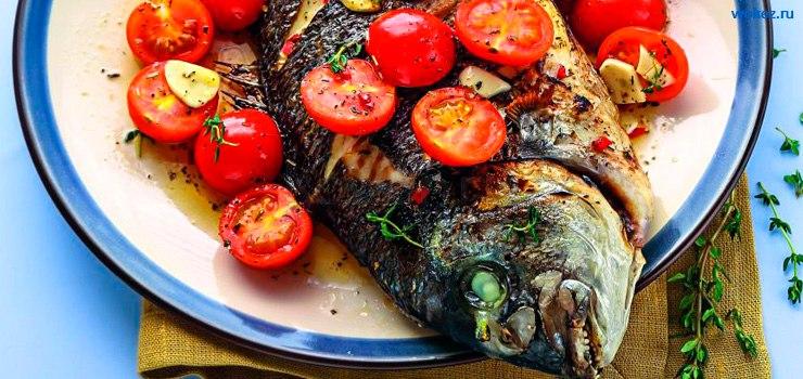 Рыба в греческом стиле