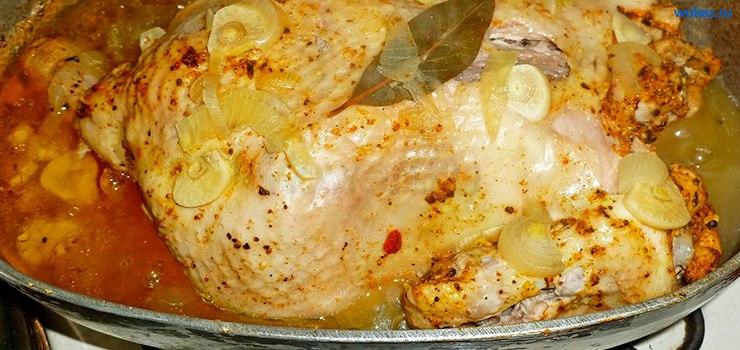Курица, приготовленная на молоке