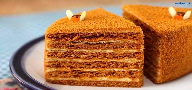 Медовый торт ,торт медовик