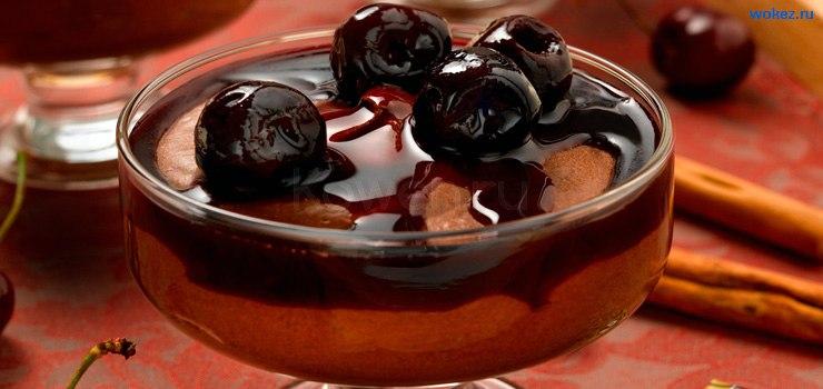Пудинг из черного шоколада